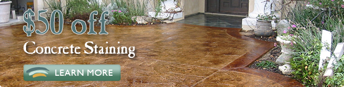 concrete staining coupon Jacksonville FL